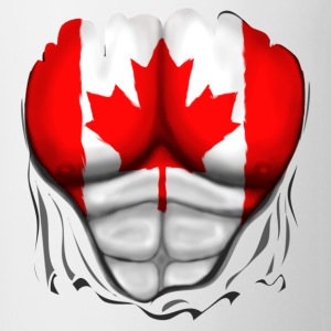 Canada Flag Ripped Muscles, six pack, chest t-shir - Mug