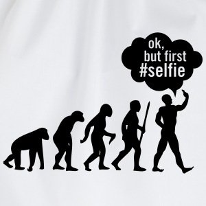 Evolution - Ok, But First # Selfie T-skjorter - Gymbag