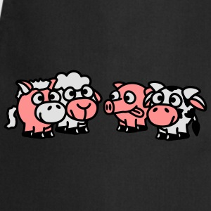 smiley_animals_3c T-shirts - Keukenschort