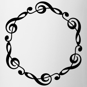 Music notes violin clef frame YOUR TEXT T-shirts - Mok