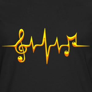 Music, pulse, notes, frequency, clef, bass, sheet Tee shirts - T-shirt manches longues Premium Homme