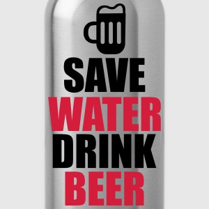 Cool quote - Save water drink beer T-Shirts - Water Bottle