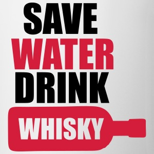 Alcohol Fun Shirt - Save water drink Whisky Koszulki - Kubek