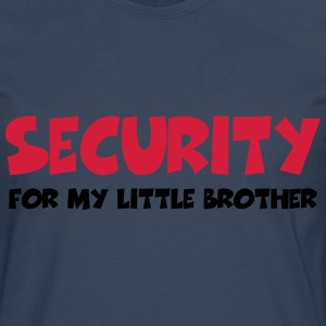 Security for my little brother T-shirts - Långärmad premium-T-shirt herr
