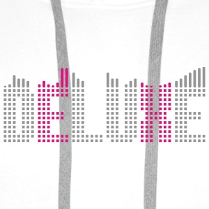 Deluxe music equalizer T-Shirts - Men's Premium Hoodie
