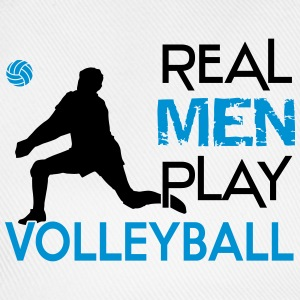Real Men play Volleyball Camisetas - Gorra béisbol