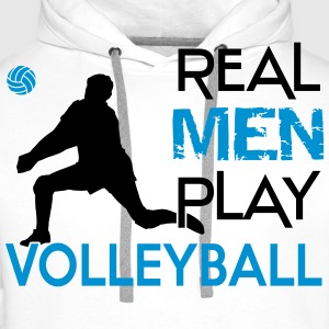 Real Men play Volleyball Camisetas - Sudadera con capucha premium para hombre