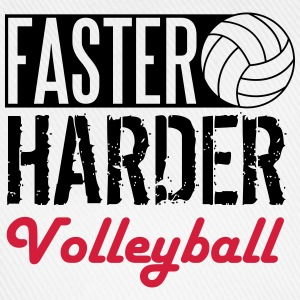 Faster, harder, Volleyball Tee shirts - Casquette classique