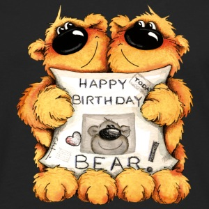 Happy Birthday, Bear Camisetas - Camiseta de manga larga premium hombre