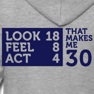 Look Feel Act 30 2 (1c)++ T-Shirts - Men's Premium Hooded Jacket
