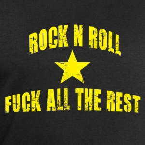 Rock n roll and fuck all the rest jaune - Sweat-shirt Homme Stanley & Stella