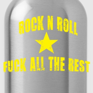 Rock n roll and fuck all the rest jaune - Gourde