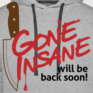 Gone Insane 1 (dd)++ Tee shirts - Sweat-shirt à capuche Premium pour hommes