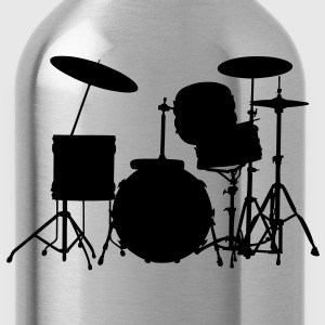 music drums drum set T-Shirts - Water Bottle