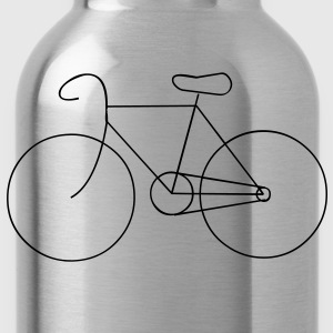 bike cycle cycling logo sport bicycle T-Shirts - Trinkflasche