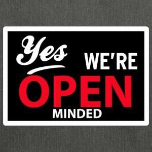 yes we are open minded Tee shirts - Sac bandoulière 100 % recyclé