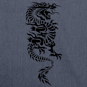 chinese dragon tribal T-shirt - Borsa in materiale riciclato