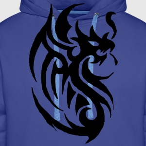 tribal tattoo dragon T-Shirts - Men's Premium Hoodie