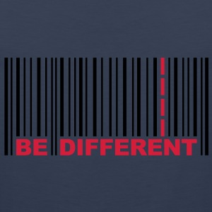 Be Different - Bar code T-shirts - Mannen Premium tank top