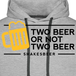 Two Beer Shakesbeer 1 (2c)++ Tee shirts - Sweat-shirt à capuche Premium pour hommes