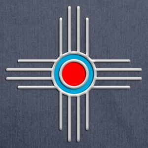 Zia Sun, Silver, Turquoise, Red, Zia Pueblo, Native American, New  Mexico, Sun Symbol, Sacred Symbol T-shirts - Axelväska av återvinningsmaterial