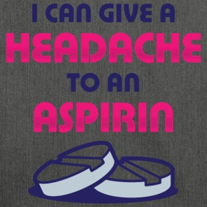 Give Headache To Aspirin 1 (dd)++ T-shirts - Skuldertaske af recycling-material