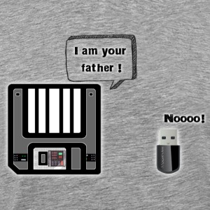 Disquette I am your father - T-shirt Premium Homme