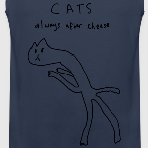 Cats. Always After Cheese T-Shirts - Men's Premium Tank Top