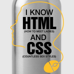 I Know Html 3 (2c)++ T-Shirts - Water Bottle