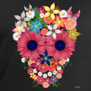 skull flowers by WAM Tee shirts - Sweat-shirt Homme Stanley & Stella
