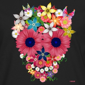 skull flowers by WAM Tee shirts - T-shirt manches longues Premium Homme