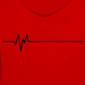 Frequency Back (FREQUENCE - FREQUENZ - BEAT - BASS - PULS) - Contrast Colour Hoodie