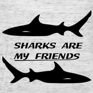 Sharks are my friends Tee shirts - Débardeur Femme marque Bella