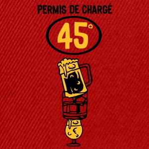 permis picoler alcool apero charge3 verr Tee shirts - Casquette snapback