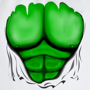 Ripped Muscles Green, six pack, chest T-shirt - Drawstring Bag