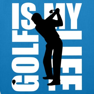golf is my life T-shirts - Bio stoffen tas