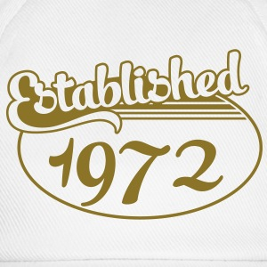 Birthday-Shirt - Geburtstag - Established 1972 (es) Camisetas - Gorra béisbol
