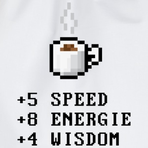 Wit Pixel Koffie met Stats T-shirts - Gymtas