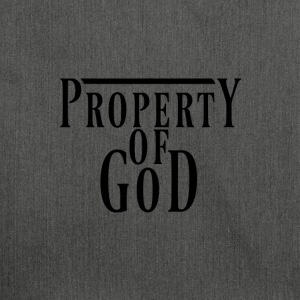 property of god #1 - Schultertasche aus Recycling-Material