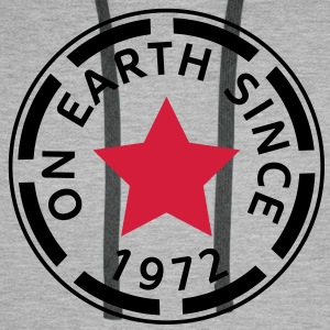 on earth since 1972 (uk) T-Shirts - Men's Premium Hoodie