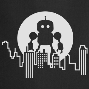 Robot City Skyline T-Shirts - Cooking Apron