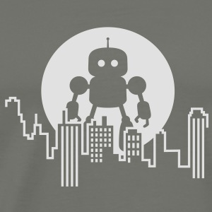 Robot City Skyline T-Shirts - Men's Premium T-Shirt