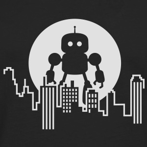 Robot City Skyline Tee shirts - T-shirt manches longues Premium Homme