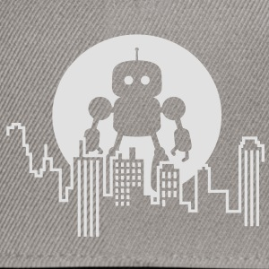 Robot City Skyline Tee shirts - Casquette snapback