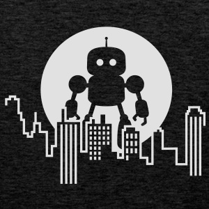 Robot City Skyline T-Shirts - Men's Premium Tank Top