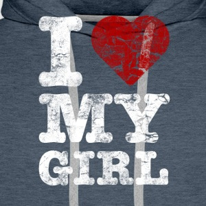 I Love my GIRL vintage light T-shirts - Herre Premium hættetrøje