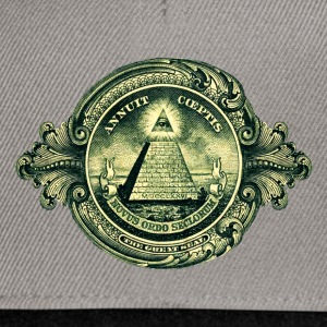 All seeing eye, pyramid, dollar, freemason, god Magliette - Snapback Cap