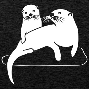 otter beaver fish sea lake river T-Shirts - Men's Premium Tank Top