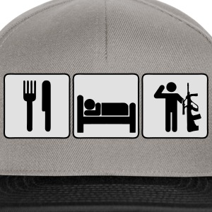 Eat Sleep Serve  T-Shirts - Snapback Cap