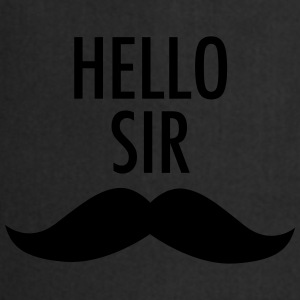 Hello Sir (Moustache) Tee shirts - Tablier de cuisine
